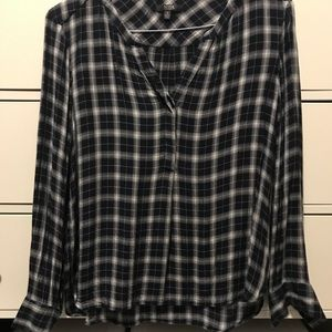 NYDJ Plaid Loose Blouse